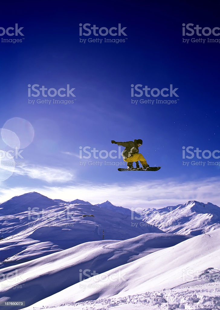 Snowboard Jump royalty-free stock photo