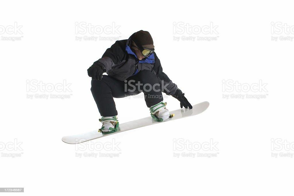 Snowboard Jump stock photo