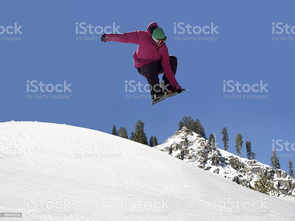 Snowboard jumping - Royalty-free Adolescence Stock Photo