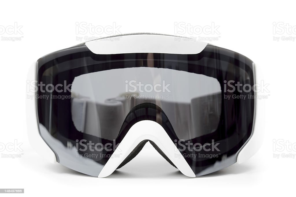Snowboard mask stock photo