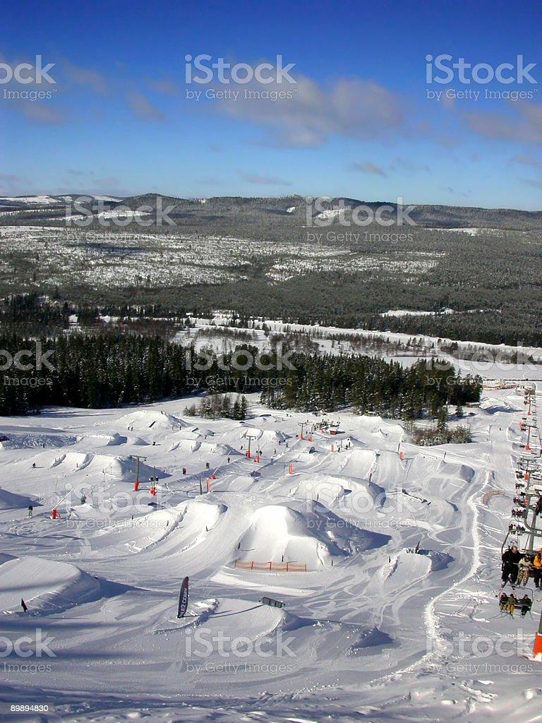 Snowboard park stock photo
