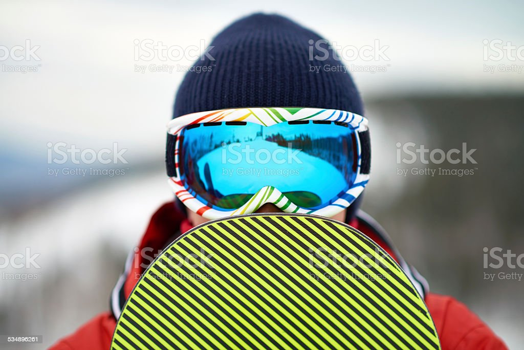 Snowboard rider stock photo