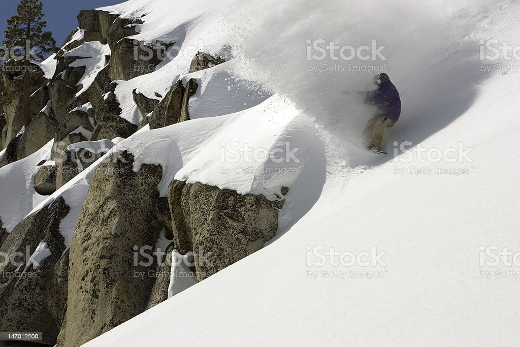 Snowboard Squaw Valley stock photo
