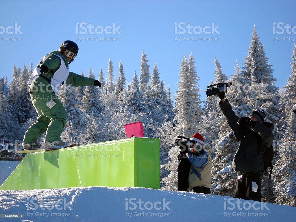 Snowboard_slide stock photo