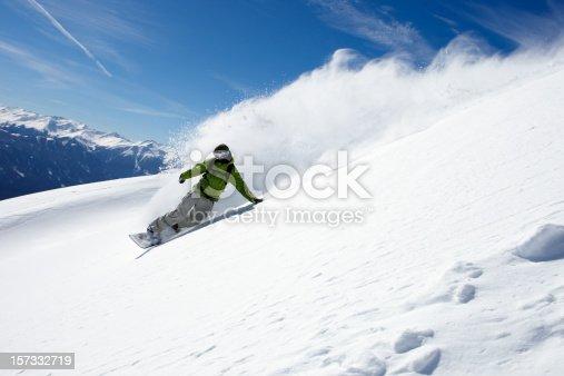 snowboarder in powdersnow