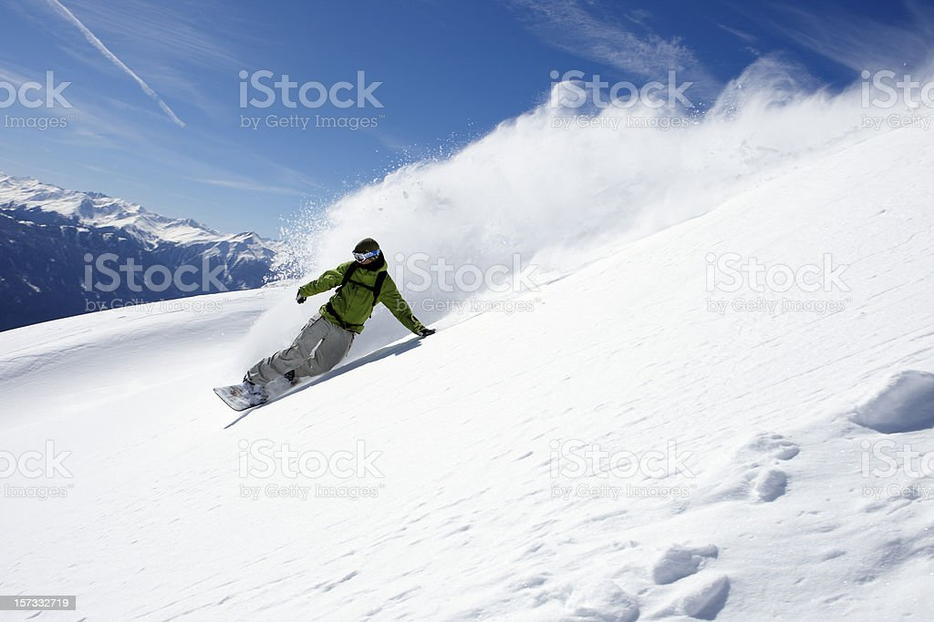 snowboarder freerider stock photo