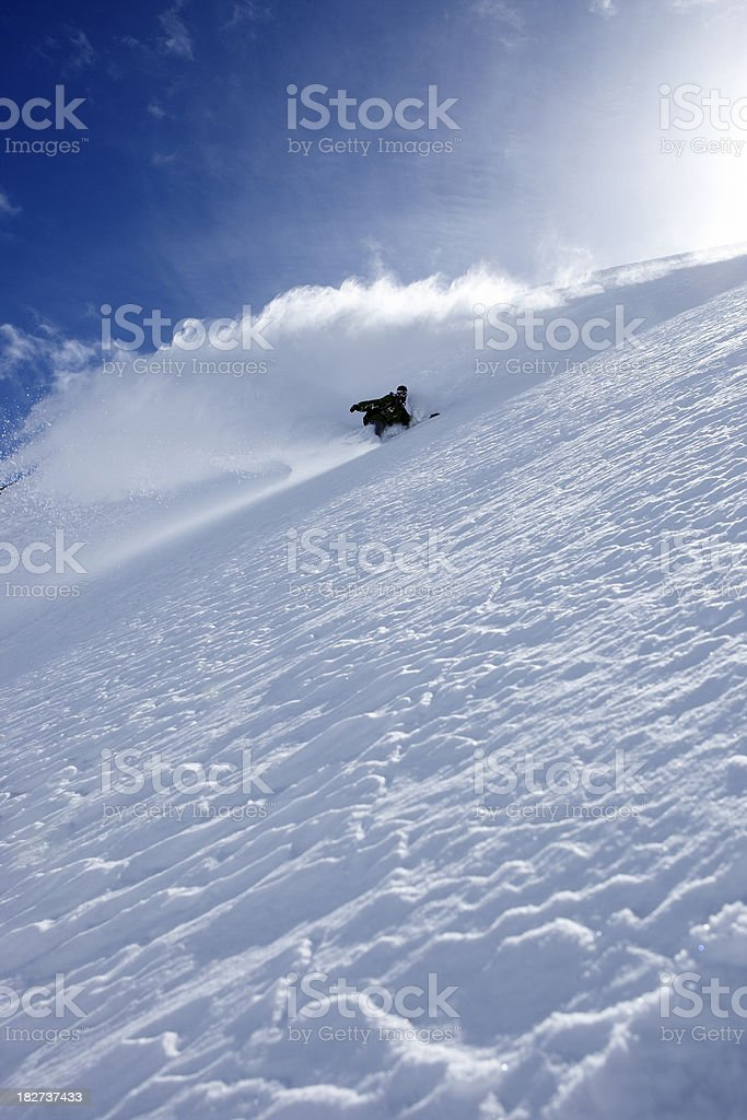 snowboarder freerider royalty-free stock photo