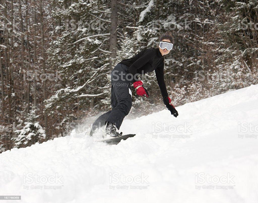 Snowboarder Mädchen mit einem perfekte Offenes Lächeln (XXXL – Foto