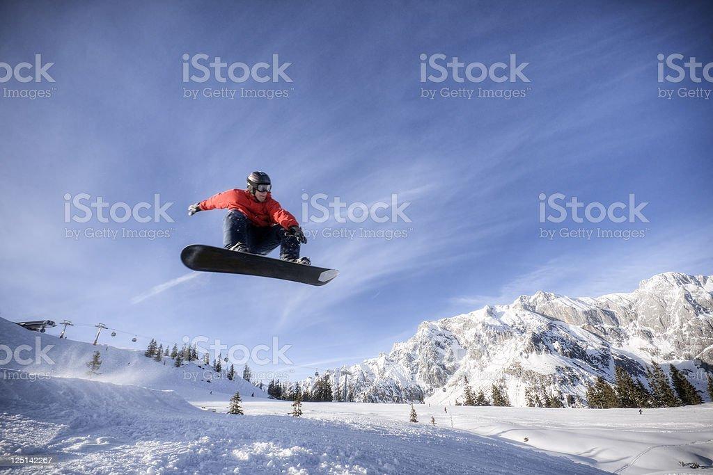 Snowboarder in Midair – Foto