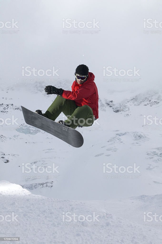 snowboarder in the halfpipe royalty-free stock photo
