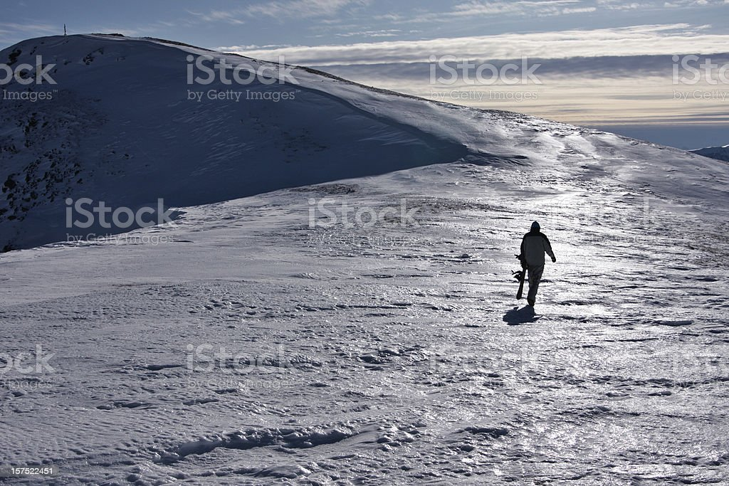 snowboarder on mountain royalty-free stock photo