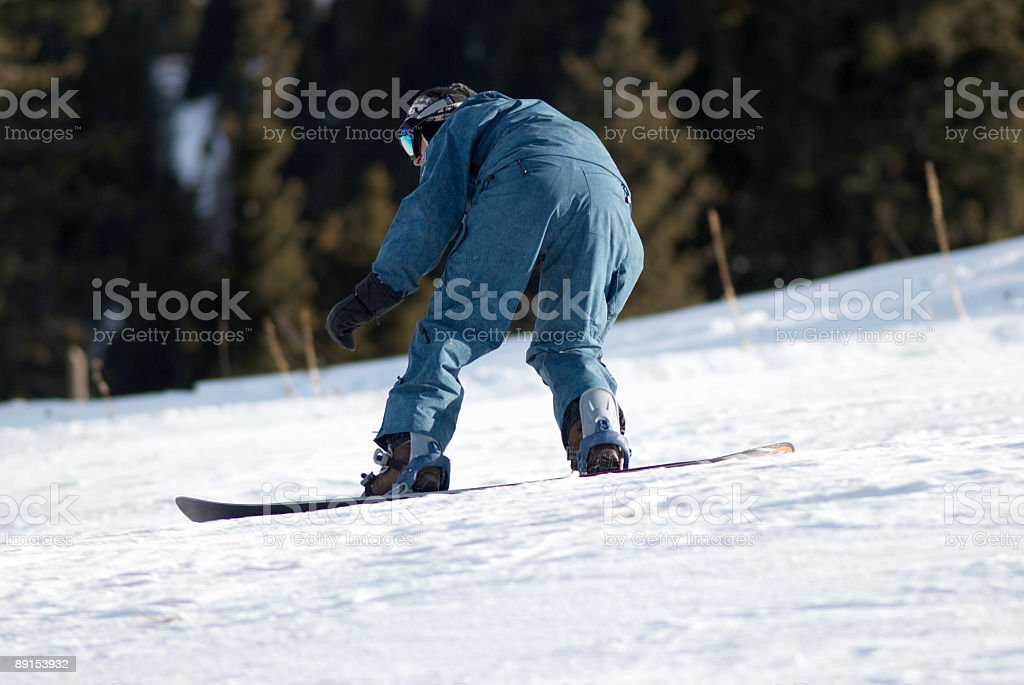 Snowboarder on race royalty-free stock photo