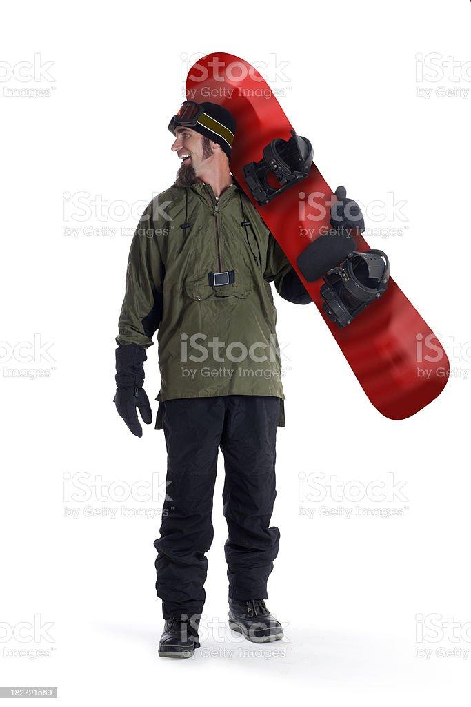 Snowboarder on White stock photo