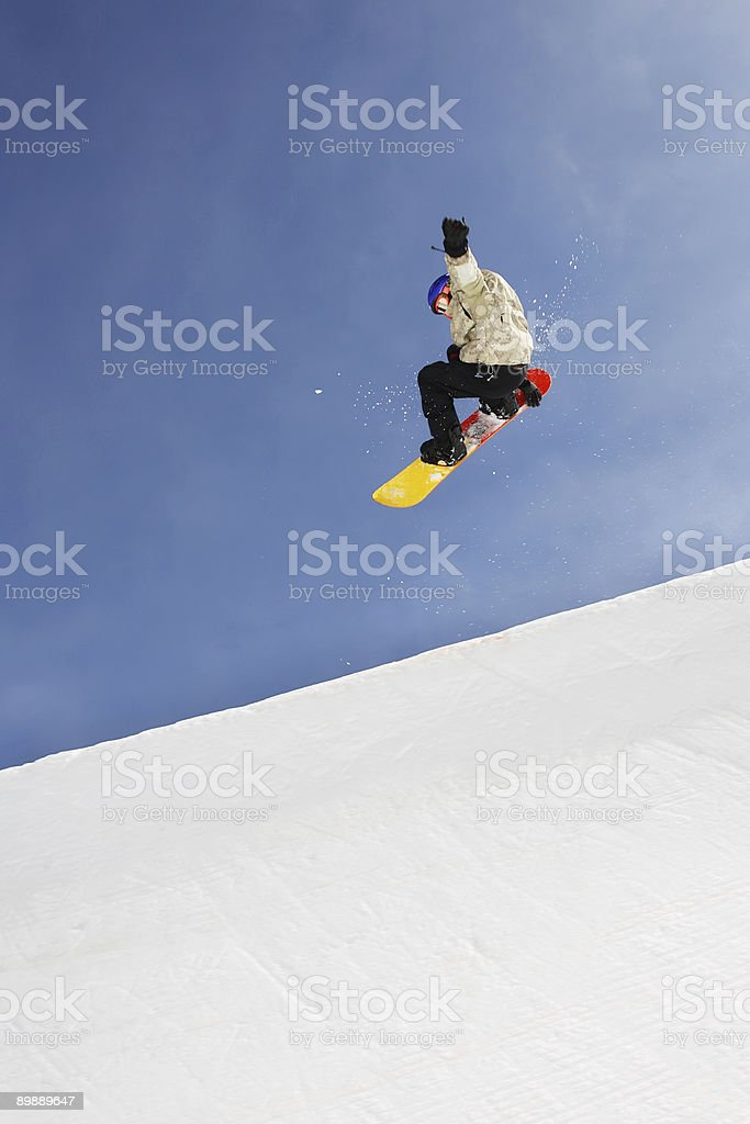 Snowboarder royalty free stockfoto