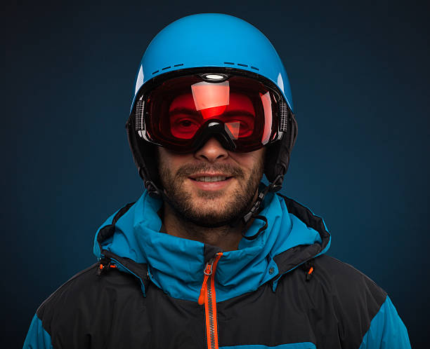 Snowboarder  portrait Portrait of young snowboarder ski goggles stock pictures, royalty-free photos & images