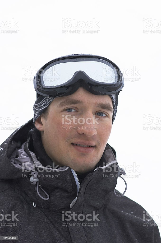 Snowboarder portrait royalty-free stock photo
