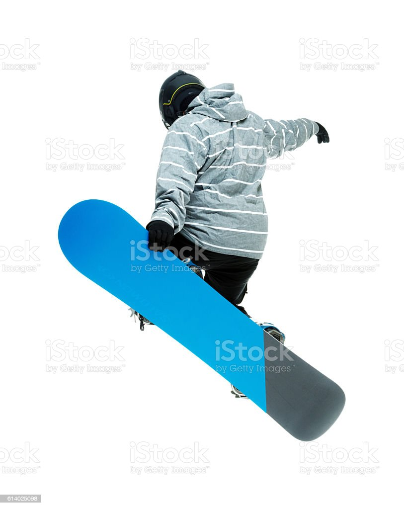 Snowboarder snowboarding stock photo