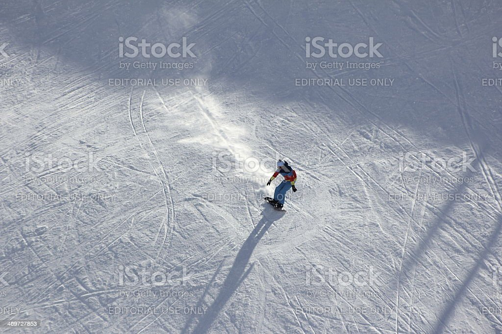 Snowboarder, Snowboarding, Winter Season stock photo