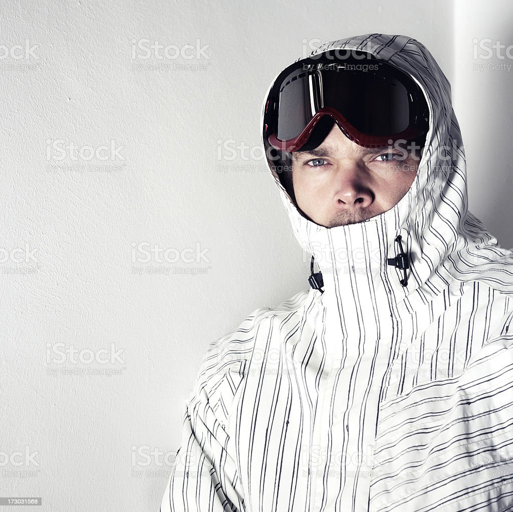 snowboarder with goggles... royalty-free stock photo