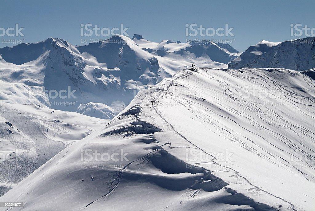 Snowboarder auf Ridge – Foto