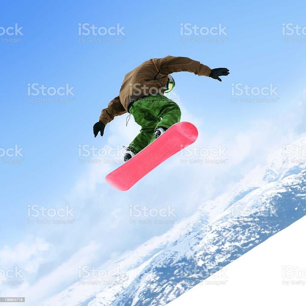 snowboarding big air stock photo