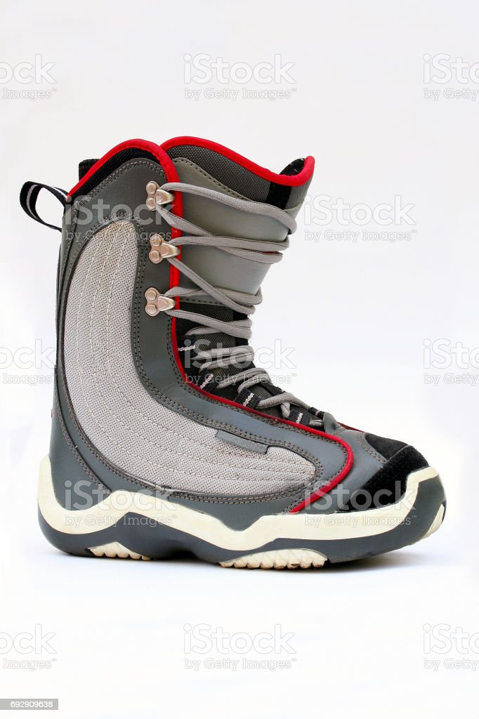 Snowboarding boot isolated stock photo