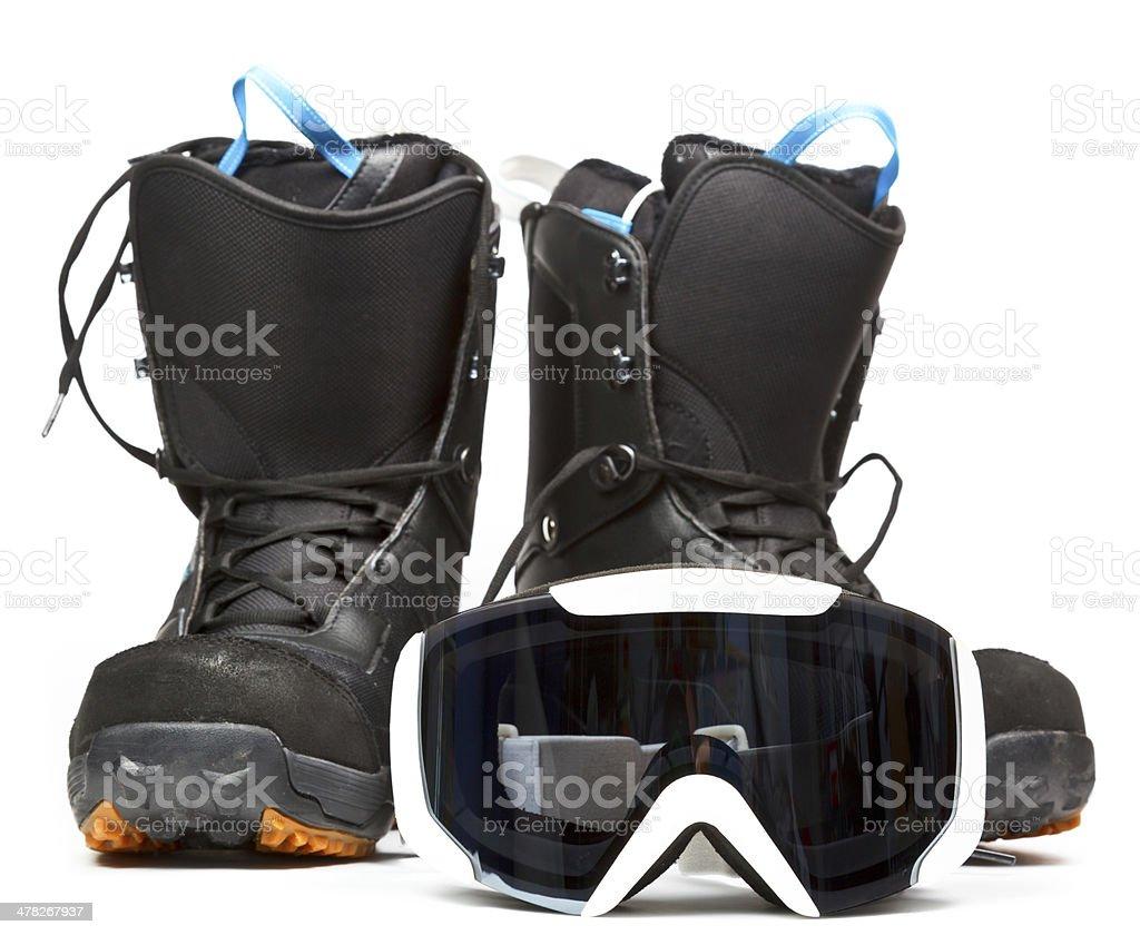 Snowboarding  equipment stock photo