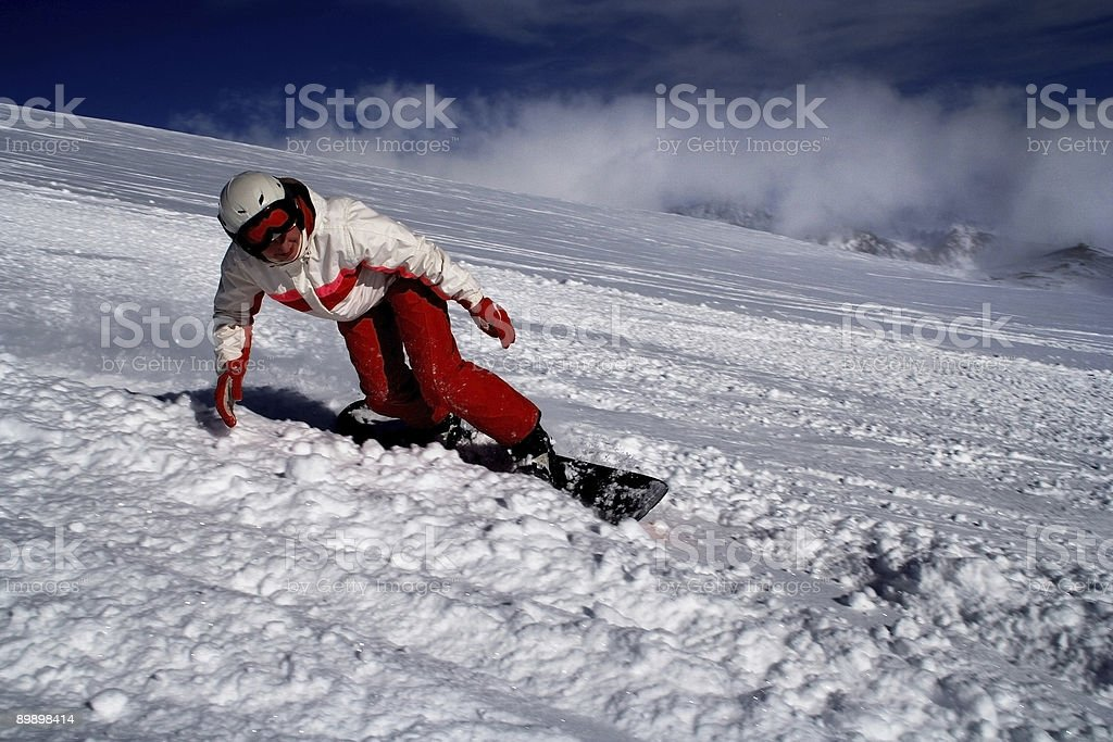 Snowboarding - high speed royalty-free stock photo