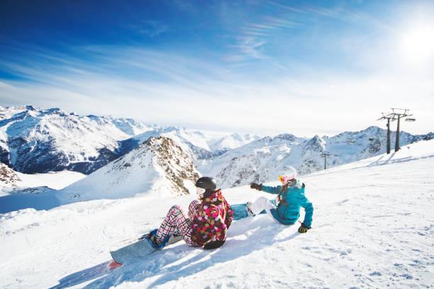 Snowboarden in Österreich – Foto