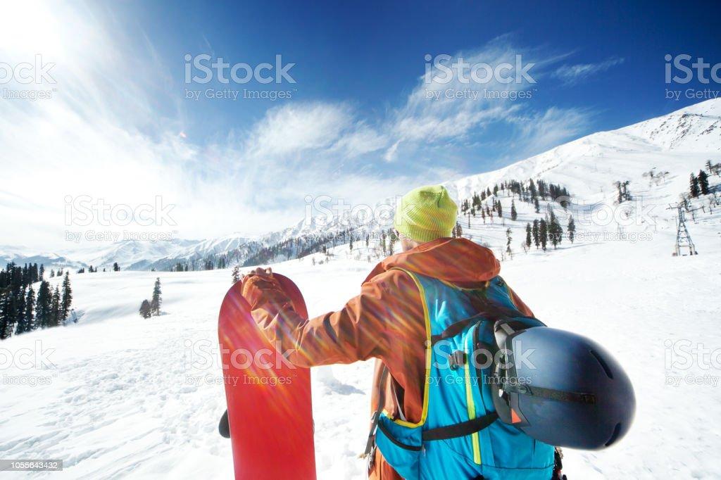 Snowboarding in Kashmir