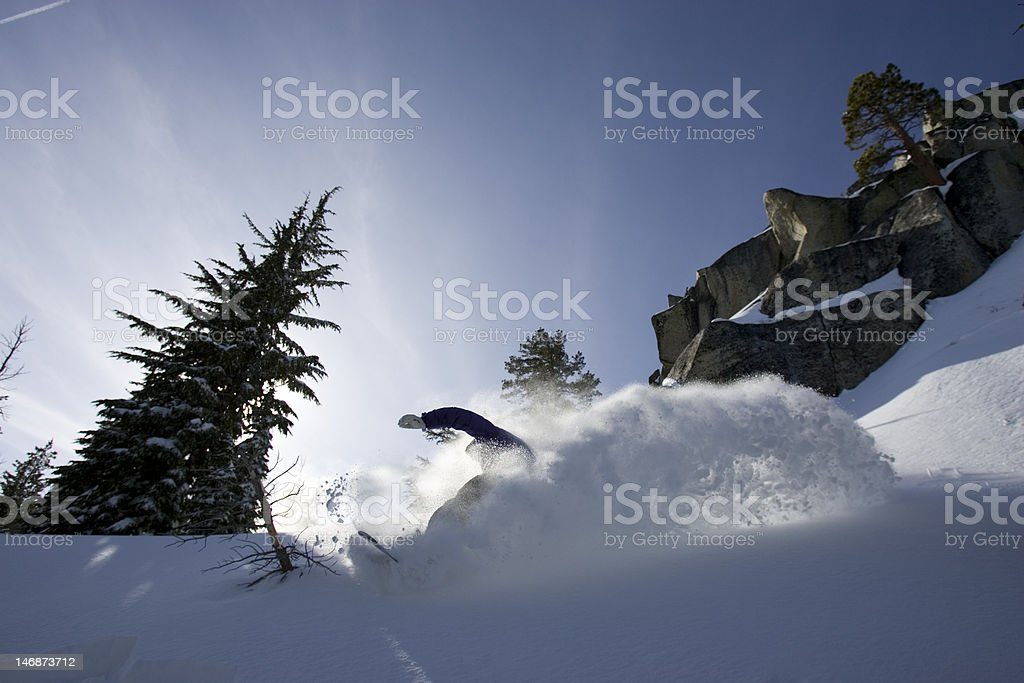 Snowboarding In Tahoe stock photo