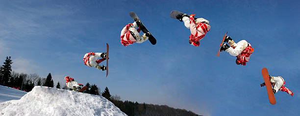 Snowboarding  sequential series stock pictures, royalty-free photos & images