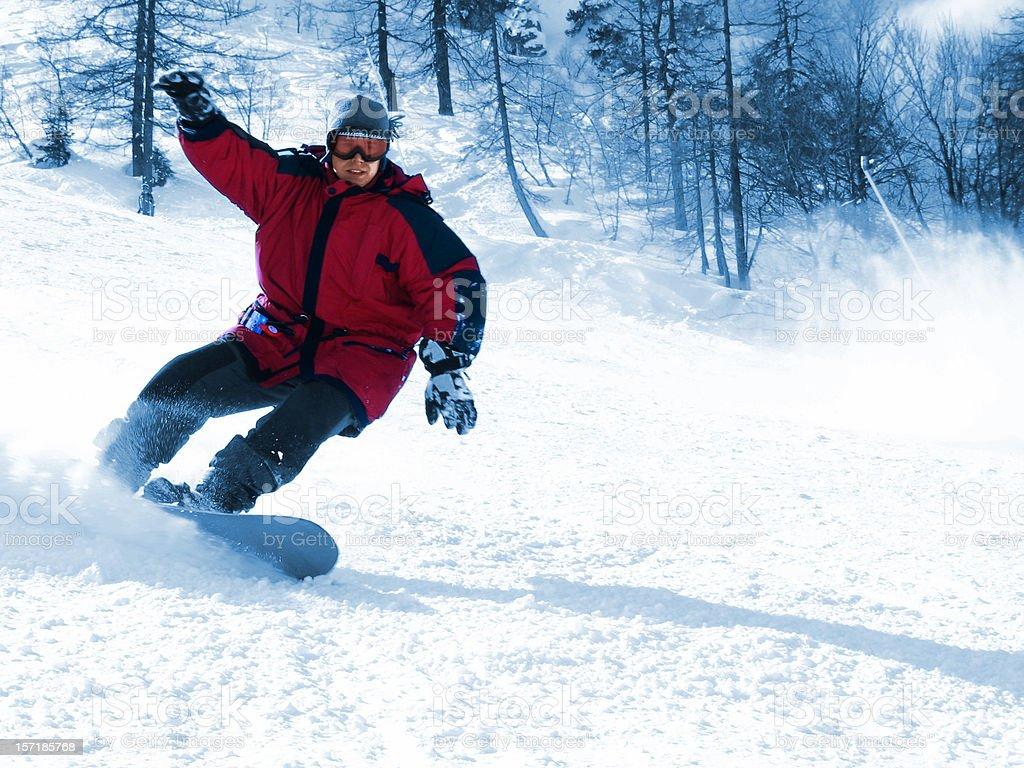 Snowboarding royalty-free stock photo