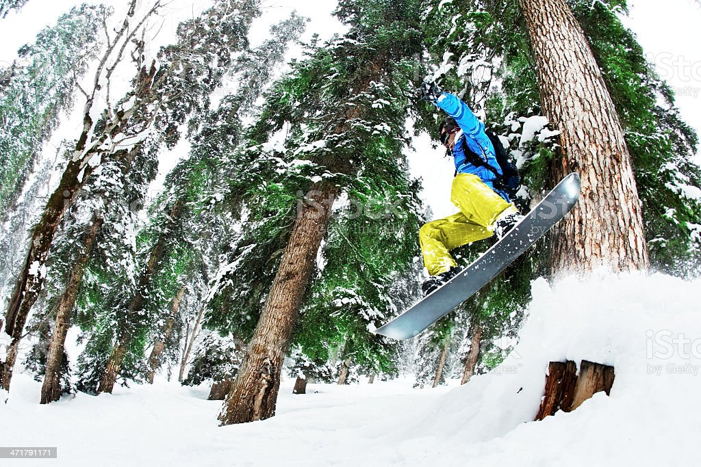 Snowboarding royalty-free stock photo
