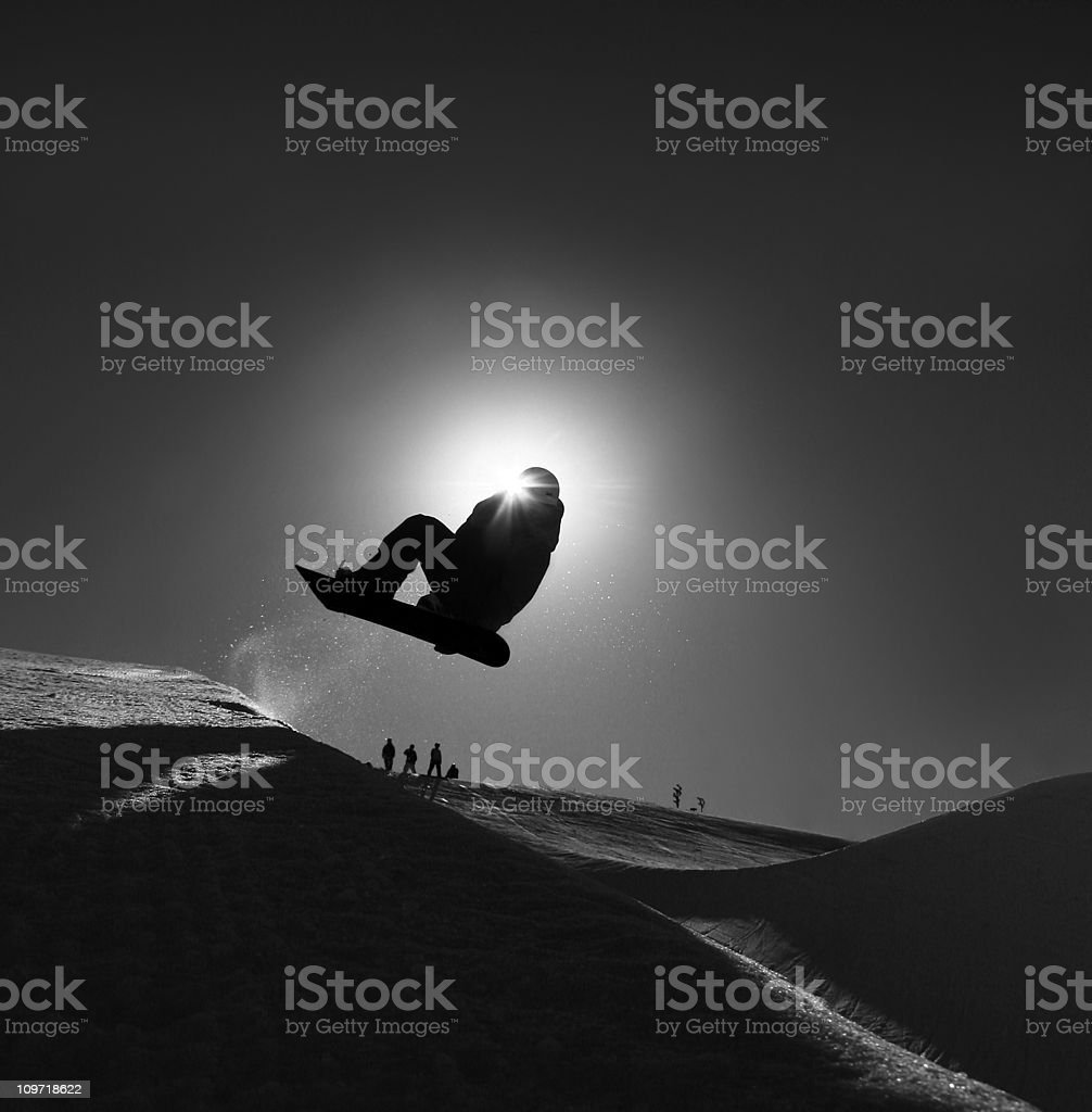 Snowboarding Silhouette stock photo