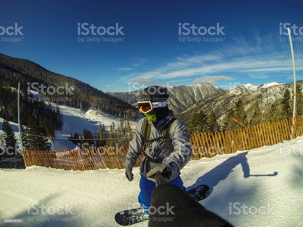 Snowboarding Taos Ski Valley New Mexico Extreme Sports stock photo