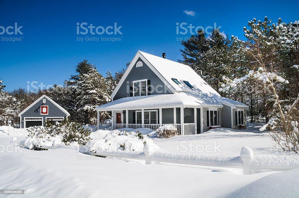 Snowbound stock photo