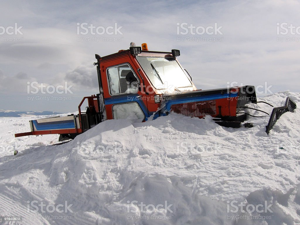 Snowbound truck royalty-free stock photo