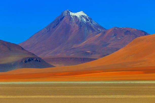 白雪皚皚錐火山, 阿塔塔塔沙漠火山景觀–智利 - 阿爾蒂普拉諾山脈 個照片及圖片檔