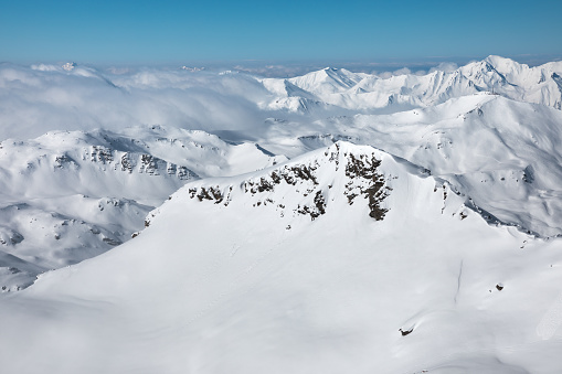 Snowcapped French Alps