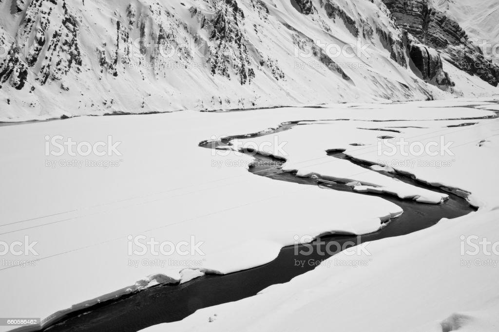 Snowcapped Himalayan mountain royalty-free stock photo