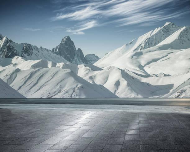 schneebedeckten Bergkette Landschaft, Yukon, Kanada – Foto