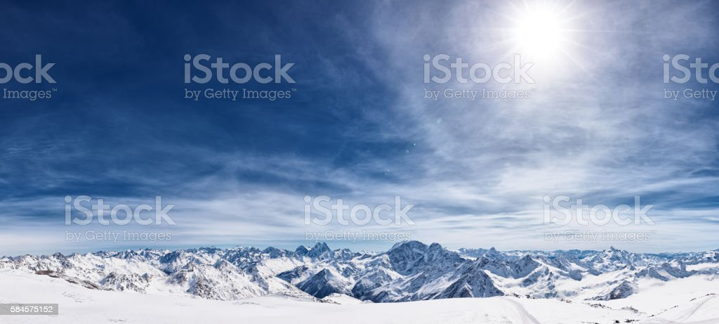 Snowcapped mountains stock photo