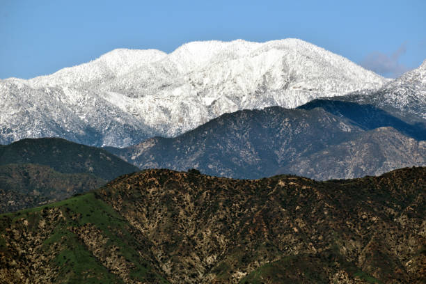 A Snowcapped Peak in Southern California stock photo