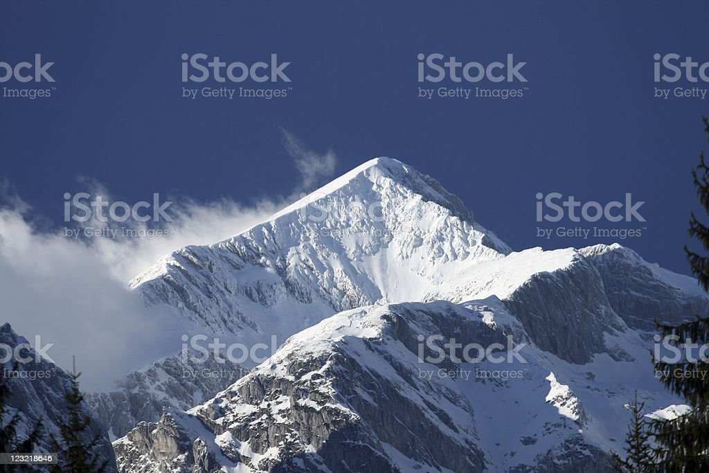 Snowcapped peak royalty-free stock photo