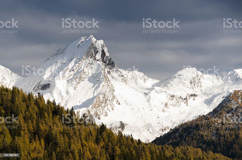 Snow-capped peak royalty-free stock photo