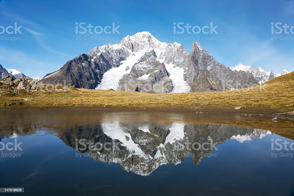 Snowcapped peaks royalty-free stock photo