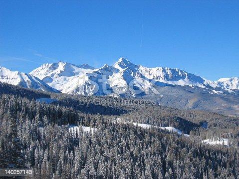 Snowcaped mountains in Telluride, Colorado