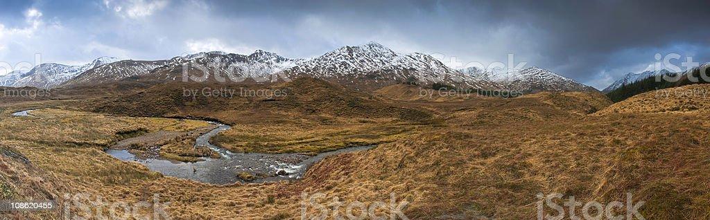 XXXL Snowcapped Scottish Highlands royalty-free stock photo