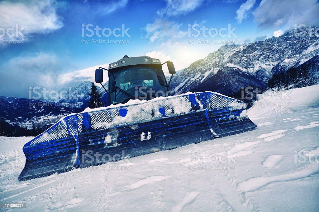 Snowcat on Italian Alps royalty-free stock photo